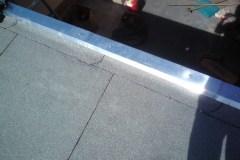 Flachdach mit Dachstuhl